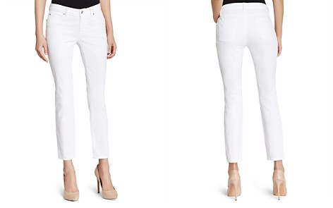 Eileen Fisher System Skinny Ankle Jeans in White - Bloomingdale's_2