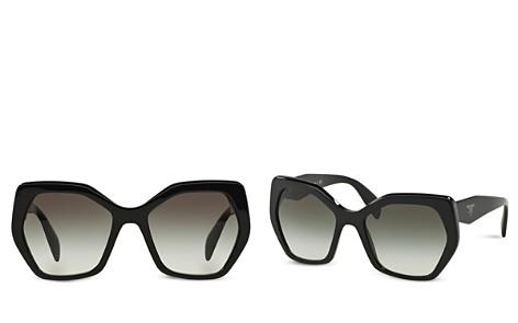 Prada Oversized Geometric Sunglasses, 56mm - Bloomingdale's_2