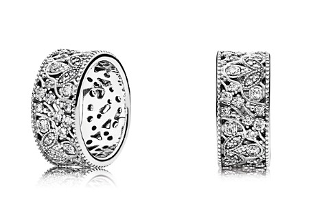PANDORA Sterling Silver & Cubic Zirconia Shimmering Leaves Ring - Bloomingdale's_2