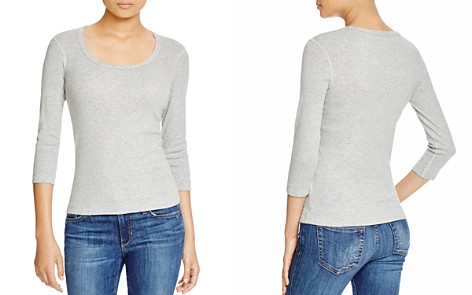 Three Dots Scoop Neck Tee - Bloomingdale's_2
