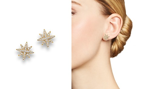 Diamond Starburst Stud Earrings in 14K Yellow Gold, .25 ct. t.w. - Bloomingdale's_2