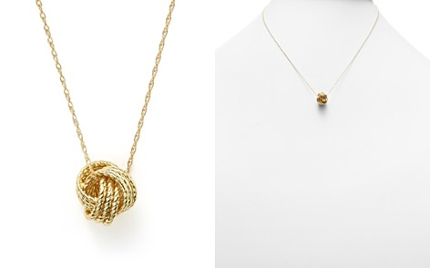 "14K Yellow Gold Love Knot Necklace, 18"" - 100% Exclusive - Bloomingdale's_2"