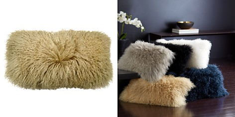 "Donna Karan Flokati Fur Decorative Pillow, 11"" x 22"" - Bloomingdale's_2"