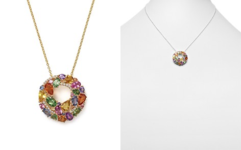 """Multi Sapphire and Diamond Pendant Necklace in 14K Yellow Gold, 17"""" - 100% Exclusive - Bloomingdale's_2"""