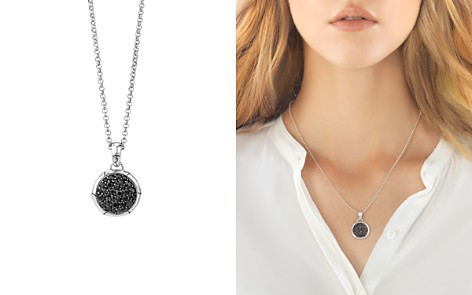 """John Hardy Bamboo Silver Small Round Pendant with Black Sapphire on Chain Necklace, 18"""" - Bloomingdale's_2"""