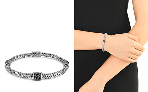 John Hardy Classic Chain Silver Lava Four Station Chain Bracelet with Black Sapphires - Bloomingdale's_2