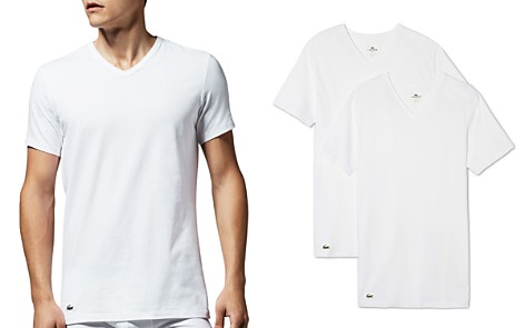 Lacoste Stretch Cotton V-Neck Tee, Pack of 2 - Bloomingdale's_2