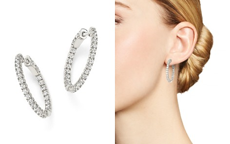 Diamond Inside Out Hoop Earrings in 14K White Gold, 1.0 ct. t.w. - Bloomingdale's_2