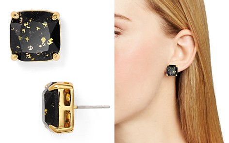 kate spade new york Small Square Glitter Stud Earrings - Bloomingdale's_2