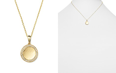 KC Designs Diamond Disc Pendant Necklace in Yellow Gold, .18 ct. t.w. - Bloomingdale's_2