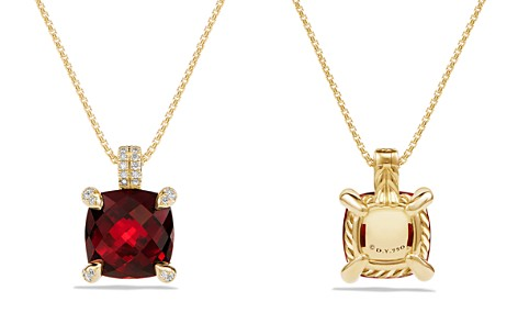 David Yurman Châtelaine Pendant Necklace with Garnet and Diamonds in 18K Gold - Bloomingdale's_2