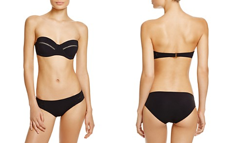 Tory Burch Lattice Trim Bandeau Underwire Bikini Top & Lattice Trim Hipster Bikini Bottom - Bloomingdale's_2