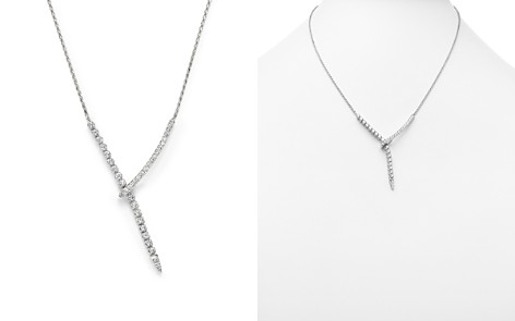 Diamond Y Necklace in 14K White Gold, 1.45 ct. t.w. - 100% Exclusive - Bloomingdale's_2