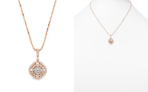 Diamond Pavé Circle Pendant Necklace in 14K Rose Gold, .55 ct. t.w. - 100% Exclusive - Bloomingdale's_2