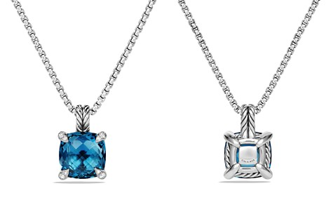 David Yurman Châtelaine Pendant Necklace with Hampton Blue Topaz and Diamonds - Bloomingdale's_2