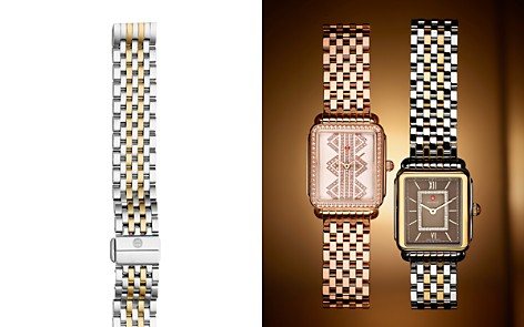 MICHELE Deco II Two-Tone Watch Bracelet, 16mm - 100% Exclusive - Bloomingdale's_2