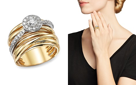 Diamond Pavé Multi Band Ring in 14K White and Yellow Gold, .80 ct. t.w. - 100% Exclusive - Bloomingdale's_2