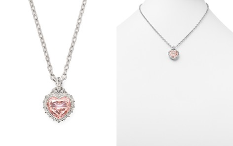 """Judith Ripka Rapture Heart Pendant Necklace with Pink Crystal, 17"""" - Bloomingdale's_2"""
