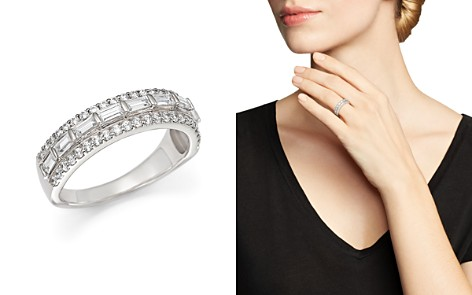 Baguette and Round Diamond Ring in 14K White Gold, 1.0 ct. t.w. - Bloomingdale's_2