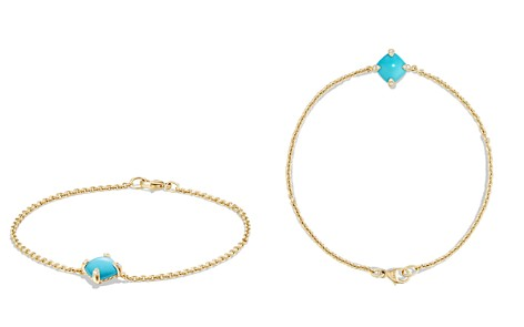David Yurman Châtelaine Bracelet with Turquoise and Diamonds in 18K Gold - Bloomingdale's_2