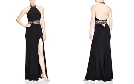 Faviana Couture Embellished Halter Gown - Bloomingdale's_2