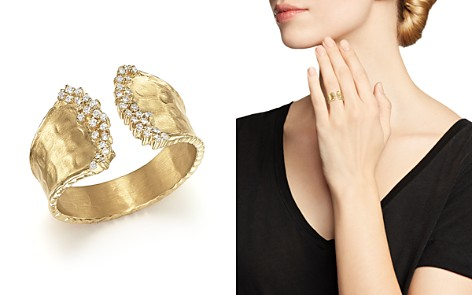 Diamond Cuff Ring in 14K Yellow Gold, .17 ct. t.w. - Bloomingdale's_2