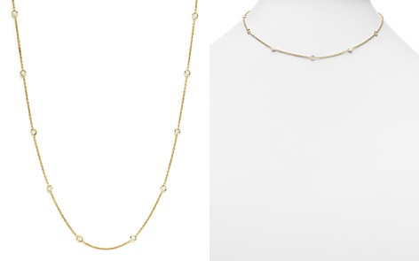 "Roberto Coin 18K Yellow Gold Diamonds by the Inch Necklace, 18"" - Bloomingdale's_2"