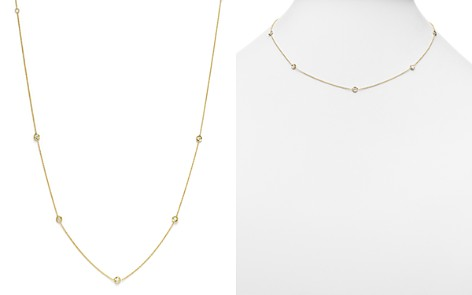 "Roberto Coin 18K Yellow Gold Diamond Station Necklace, 16"" - Bloomingdale's_2"