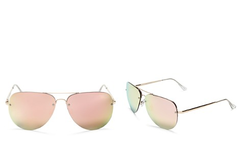Quay Muse Mirrored Aviator Sunglasses, 62mm - Bloomingdale's_2