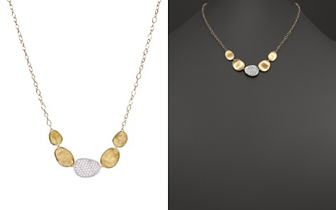 """Marco Bicego 18K White and Yellow Gold Lunaria Diamond Half Collar Necklace, 16.5"""" - Bloomingdale's_2"""