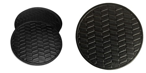 Owen & Fred Herringbone Leather Coaster, Set of 4 - Bloomingdale's_2