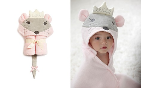 Elegant Baby Infant Girls' Princess Mouse Hooded Bath Towel - Bloomingdale's_2