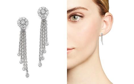 Diamond Cluster Tassel Earrings in 14K White Gold, .45 ct. t.w. - Bloomingdale's_2