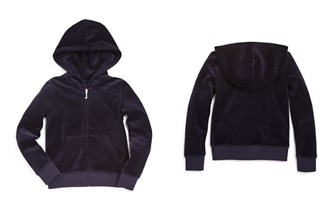 Juicy Couture Black Label Girls' Robertson Velour Hoodie, Little Kid - 100% Exclusive - Bloomingdale's_2