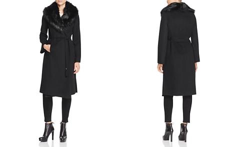 Via Spiga Belted Faux Fur-Trim Wrap Maxi Coat - Bloomingdale's_2