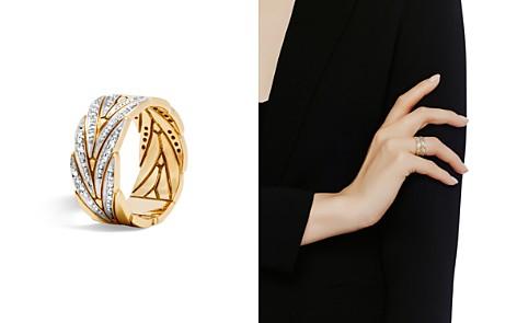John Hardy 18K Yellow Gold Modern Chain Band Ring with Diamonds - Bloomingdale's_2