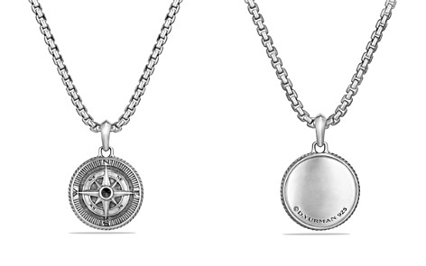 David Yurman Maritime Compass Amulet with Black Diamonds - Bloomingdale's_2