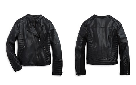 AQUA Girls' Quilted Faux-Leather Moto Jacket, Big Kid - 100% Exclusive - Bloomingdale's_2