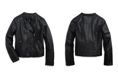 AQUA Girls' Faux Leather Jacket, Big Kid - 100% Exclusive - Bloomingdale's_2