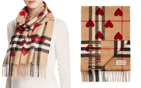 Burberry Heart Print Giant Check Reversible Cashmere Scarf - Bloomingdale's_2