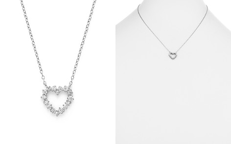 Diamond Heart Pendant Necklace in 14K White Gold, .35 ct. t.w. - Bloomingdale's_2