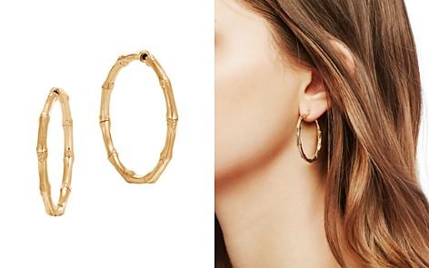 John Hardy 18k Yellow Gold Bamboo Medium Hoop Earrings Bloomingdale S 2
