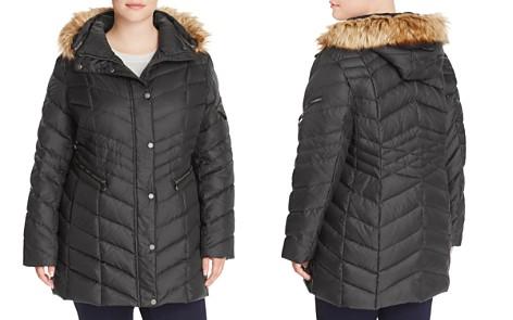 Marc New York Plus Renee Faux Fur Trimmed Puffer Coat - Bloomingdale's_2
