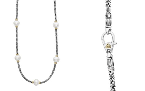 "LAGOS 18K Gold and Sterling Silver Luna Rope Necklace with Cultured Freshwater Pearls, 16"" - Bloomingdale's_2"