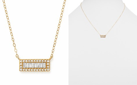 Diamond Round and Baguette Bar Pendant Necklace in 14K Yellow Gold, .20 ct. t.w. - Bloomingdale's_2