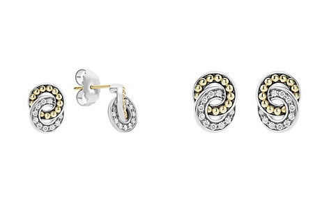 LAGOS 18K Gold and Sterling Silver Enso Double Circle Stud Earrings with Diamonds - Bloomingdale's_2