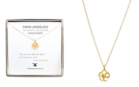 "Dogeared Maya Angelou Legacy Collection ""No One Can Take the Place of a Friend..."" Necklace, 16"" - Bloomingdale's_2"
