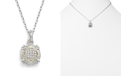 """Judith Ripka 18K Yellow Gold and Sterling Silver Round Pavé Diamond Pendant Necklace, 17"""" - Bloomingdale's_2"""