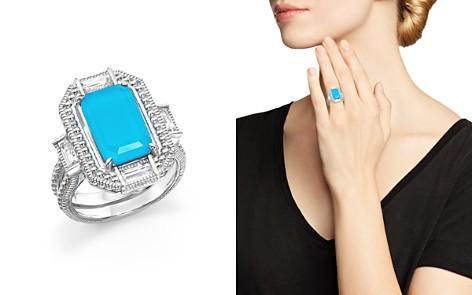 Judith Ripka Sterling Silver Doublet Baguette Ring - Bloomingdale's_2