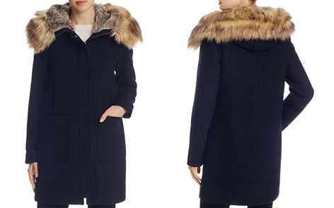 VINCE CAMUTO Zip Front Faux Fur Hood Coat - Bloomingdale's_2